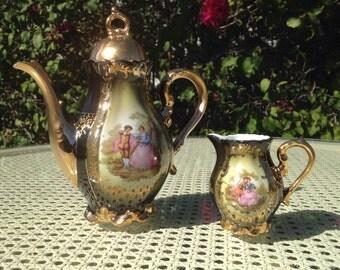 RARE Antique Tea Pot and Creamer Vessel