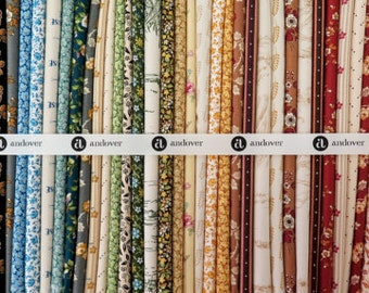 """Little House On The Prairie Cotton Quilt Fabric 49 Piece Layer Cake 10"""" Squares"""