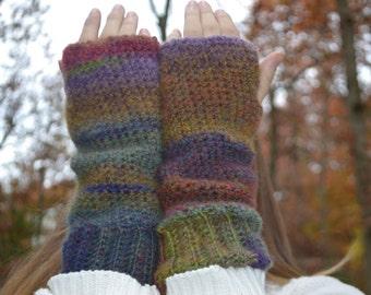 Boho Fingerless Gloves Arm Warmers