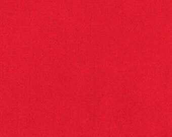 Fabric by the 1/4 Yard - Solid Red Fleece