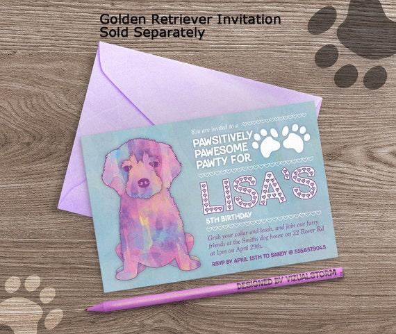 Watercolor Puppy Birthday Invitation Printable Puppy Party – Puppy Dog Birthday Invitations