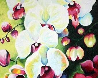 Orchid Original Oil Art