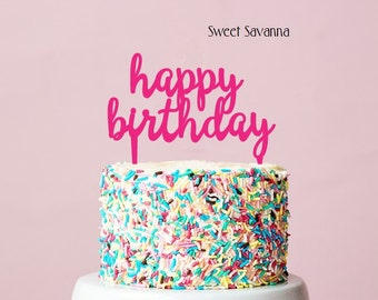 Happy Birthday Cake Topper N1 MADE IN AUSTRALIA