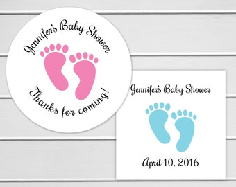 Baby Shower Stickers, Pick a Size Baby Boy Shower Stickers, Baby Shower Thank You Stickers  (#231)