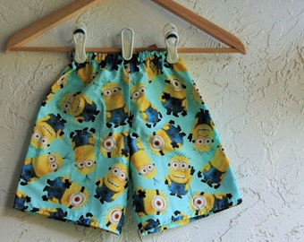 Toddler Minion Shorts. Minion Boy's shorts. Boy's clothing