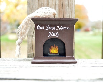 First Home Ornament, Wooden Christmas Ornament, Christmas Ornament, Holiday Decor, Christmas Decor, Housewarming Gift