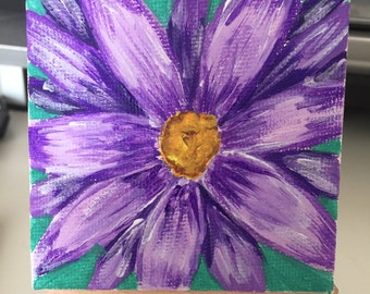 Miniature Acrylic painting on Canvas with Easel