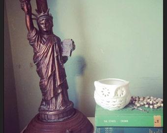 1950s Copper MID CENTURY Statue of LIBERTY Lamp