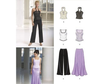 New Look Pattern 6584 Misses' Two Piece Special Occasion Outfits