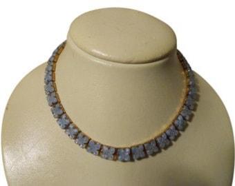 vintage/antique Czech glass choker necklace