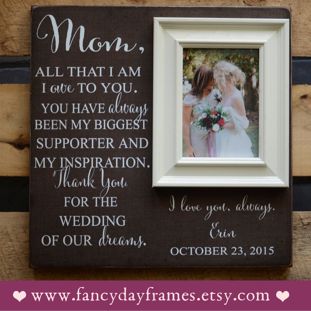 Custom Engraved Mother of the Bride Picture Frame Mother of