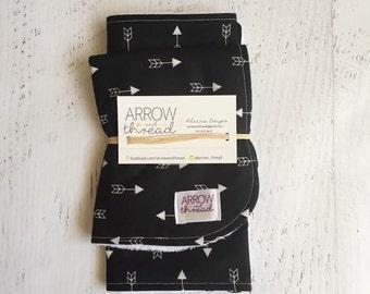 Bib & Burp Cloth Gift Set - Baby Boy Bib - Bibs - Burp Cloth - Arrows - Black and White - Burp Rag - Gender Neutral