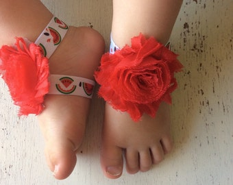 Barefoot sandals; baby barefoot sandals; watermelon sandal ; toddler barefoot sandal; sandal