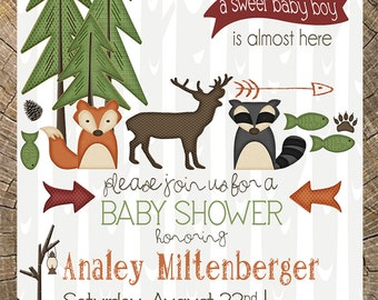 Outdoor Baby Shower Invitation (Hunting, Camping, Animals, Critters)