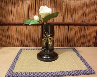 Japanese Metal Flower Arrangement / Ikebana Vase / Vesel / Container