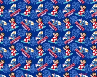 Lilo and Stitch, Surf's Up Cotton Woven, Disney Springs Creative