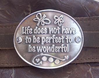Pewter Wonderful Life Bracelet