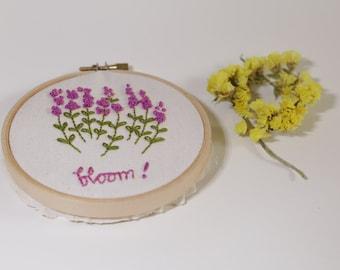 Lavender Hand embroidery Hoop Art