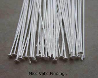 50 sterling silver filled headpins 1.5 inch 22 gauge