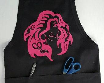 Hair Stylist apron,kitchen apron,crafters apron