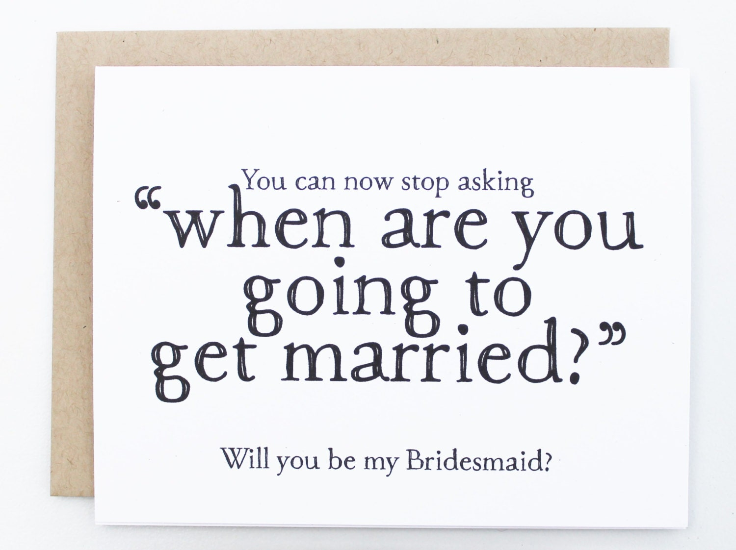 Will You Be My Bridesmaid Funny Card Will You Be My Brides