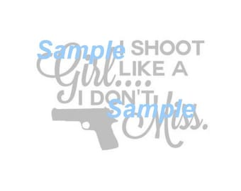 Shoot like a girl SVG