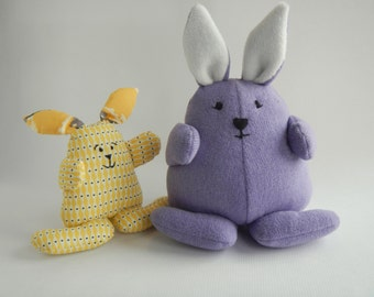 Bunny Sewing pattern, Instant Download- PDF-Bunny softie, 5 inches tall
