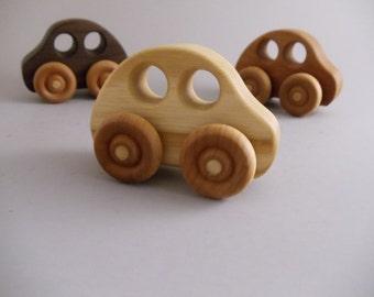 Little Hardwood Bug Car - toy car - wood car - handmade - natural - bug style car