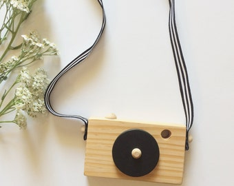 Wooden toy camera, kids toy, kids decor