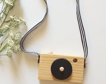 Wooden toy camera, kids toy, kids decor