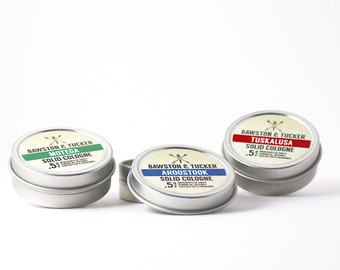 Solid Cologne Trio (3 pack) for Men- One of Each Solid Cologne Scents