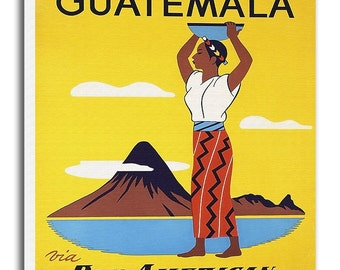 Guatemala Art Vintage Travel Poster Retro Home Decor Print xr924