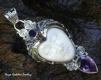 Silver and Amethyst Goddess Pendant NG-1261