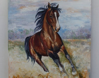 Hand painted horse , oil painting