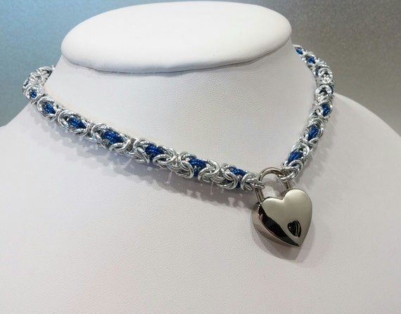 Petite Byzantine Chainmaille Submissive Locking Day Collar