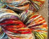 Handspun, Hand dyed, thread ply merino wool yarn - FUNKY #1