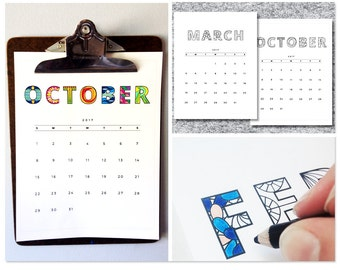 2017 Printable Calendar Coloring Pages