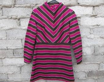 vintage dress mini junior 1960s 70s mod mad men twin peaks size xs vicky vaughn