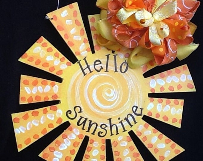 Sunshine sun summer door hanger