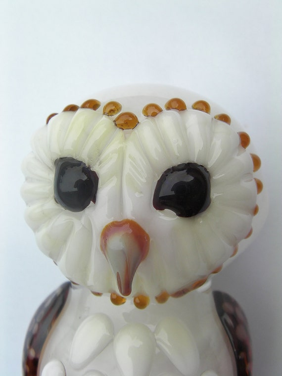 Glass Pipe Barn Owl made to order