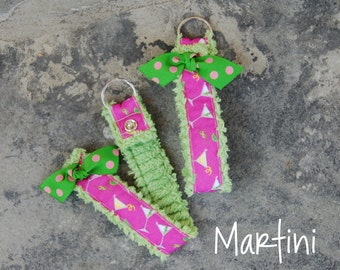 SALE! Chenille Snap Key Rings