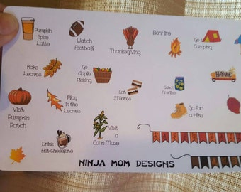 Fall Bucket List Stickers Perfect for Planners
