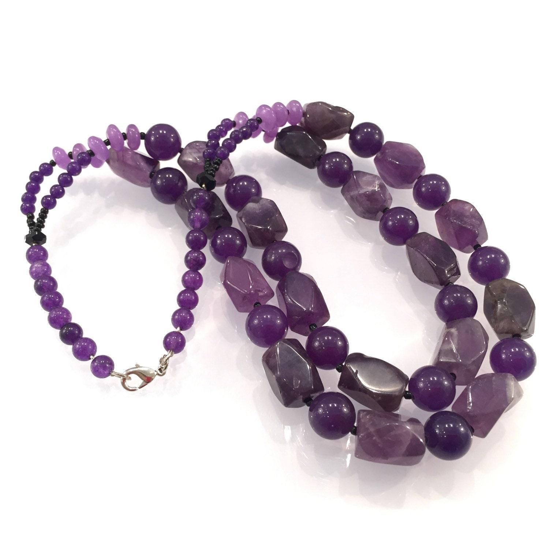 amethyst set necklace gemstone necklace handmade jewellery