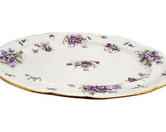 """SALE! Org 85.00 Large Serving Platter    Marked """"Hammersley Victorian Violets England."""""""