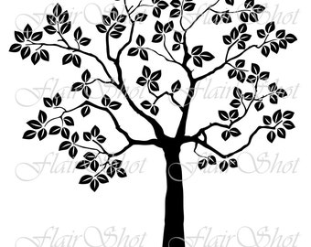 INSTANT DOWNLOAD - Digital Clip Art - Silhouette Tree Clip Art- Vector Tree Clip Art