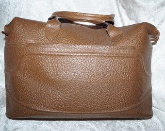 Old Travel Bag Weekender Genuine Leather