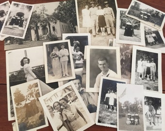 1940s Black and White Photographs, Sepia, Old Vintage Photo, Mixed Media, Shapshot, Ephemera, Catholic Nun, Arkansas, Collage Supplies