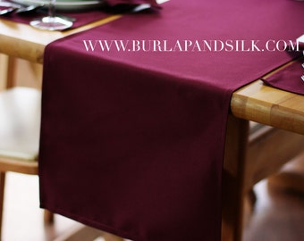 Burgundy Table Runner 14 X 108 inches | Burgundy Table Runners for Weddings, Hotels and Restaurants