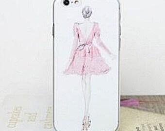 iPhone 6+ iPhone 6 plus 6S plus 6S+ Hand drawn  Fashion Illustration