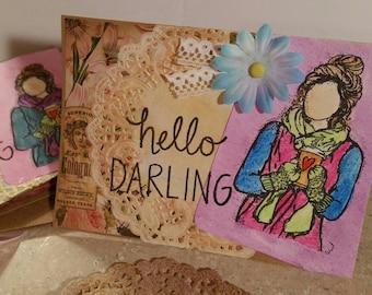 Handmade Greeting Card Set